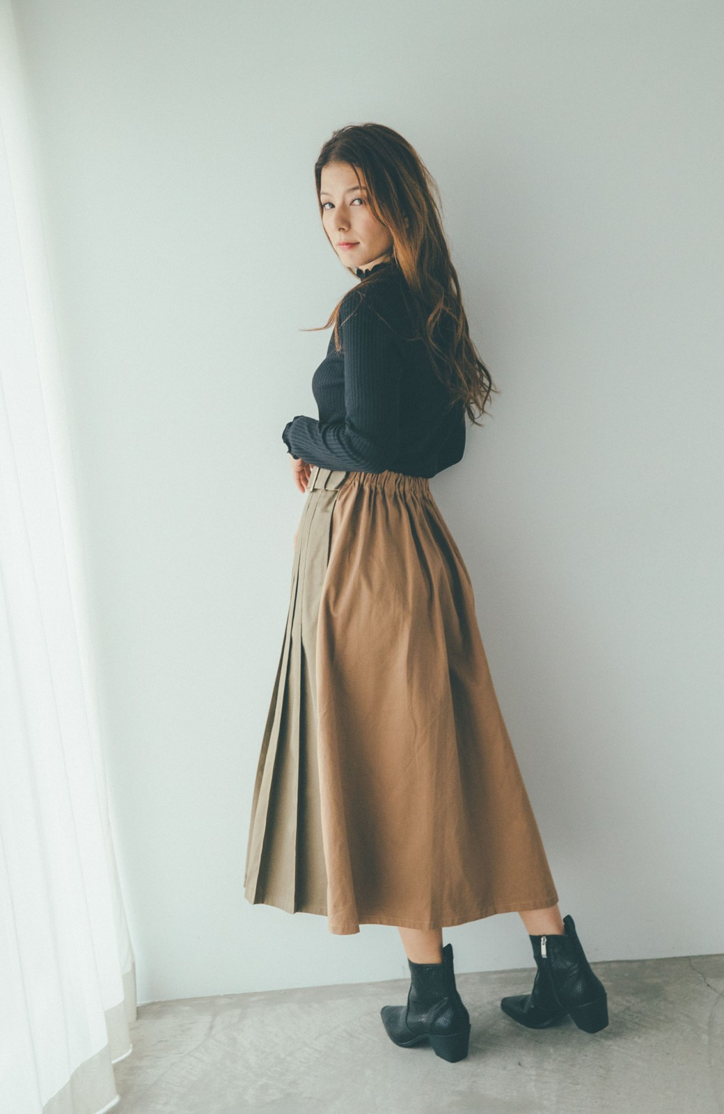 haco! 【スザンヌさんコラボ】配色プリーツのパネルスカート by LOVE&PEACE PROJECT <ベージュ>の商品写真11