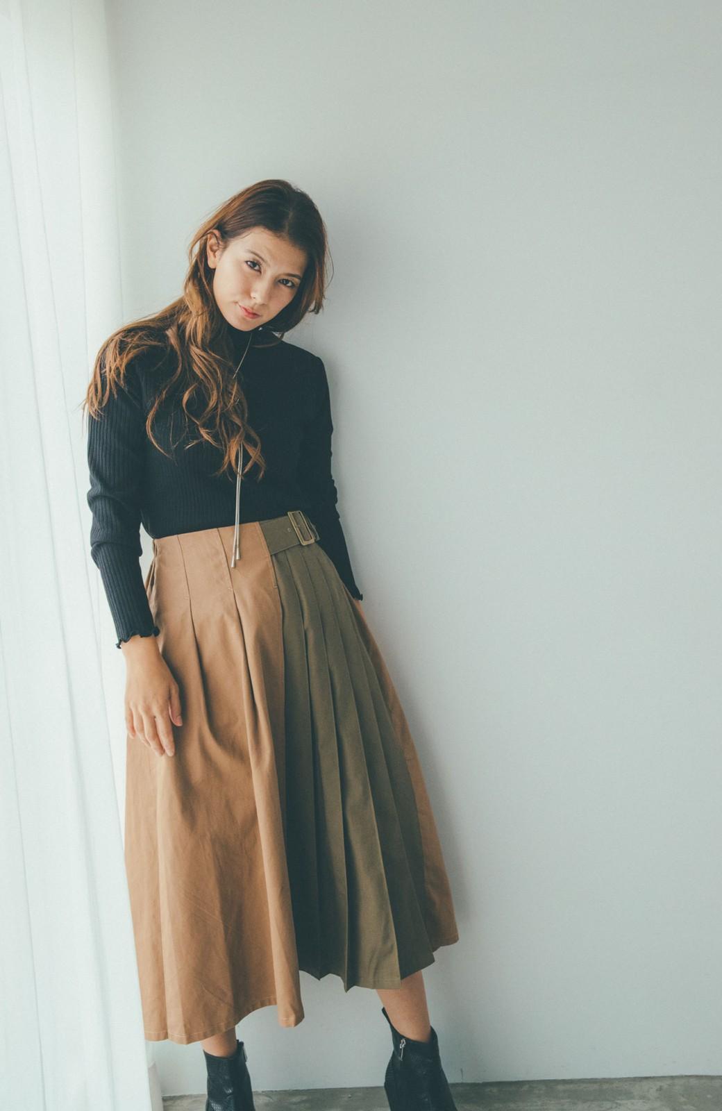 haco! 【スザンヌさんコラボ】配色プリーツのパネルスカート by LOVE&PEACE PROJECT <ベージュ>の商品写真10