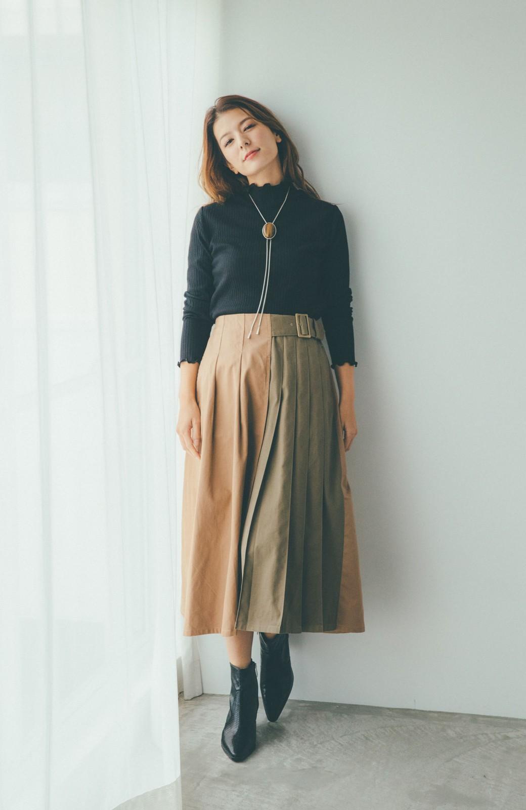 haco! 【スザンヌさんコラボ】配色プリーツのパネルスカート by LOVE&PEACE PROJECT <ベージュ>の商品写真9