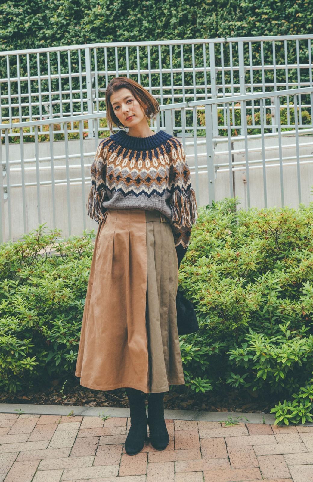 haco! 【スザンヌさんコラボ】配色プリーツのパネルスカート by LOVE&PEACE PROJECT <ベージュ>の商品写真13