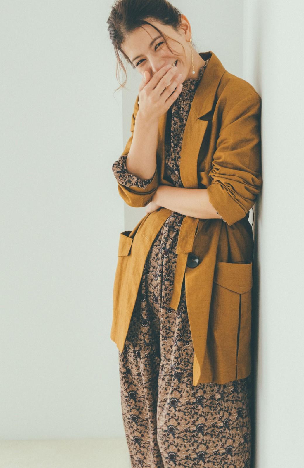 haco! 【スザンヌさんコラボ】小花柄のハイネックティアードロングワンピース by LOVE&PEACE PROJECT <ベージュ系その他>の商品写真14