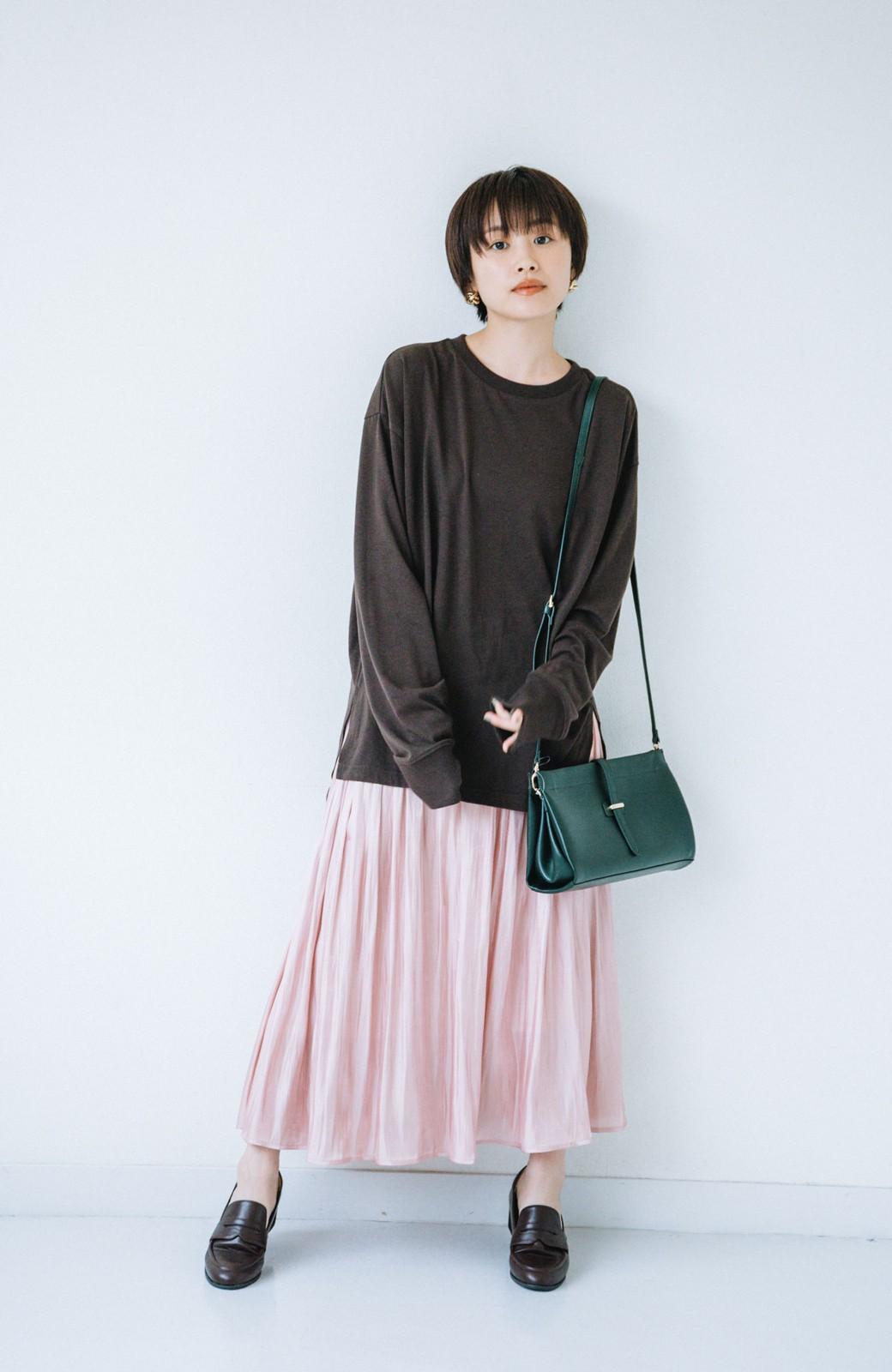 haco! 【高橋愛さんコラボ】ニットジャンパースカートとロングTシャツセット by LOVE&PEACE PROJECT <アイボリー>の商品写真13