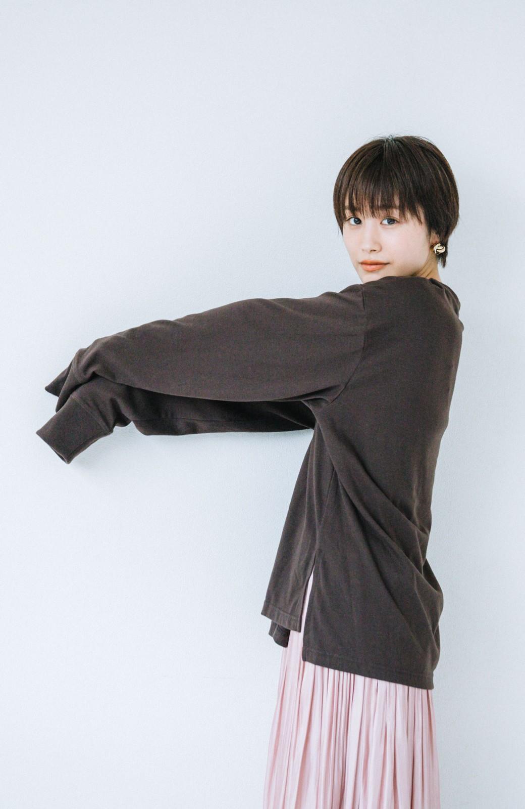 haco! 【高橋愛さんコラボ】ニットジャンパースカートとロングTシャツセット by LOVE&PEACE PROJECT <アイボリー>の商品写真14