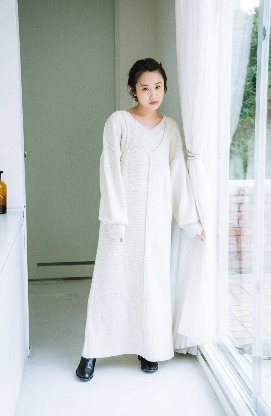 haco! 【高橋愛さんコラボ】ニットジャンパースカートとロングTシャツセット by LOVE&PEACE PROJECT <アイボリー>の商品写真16