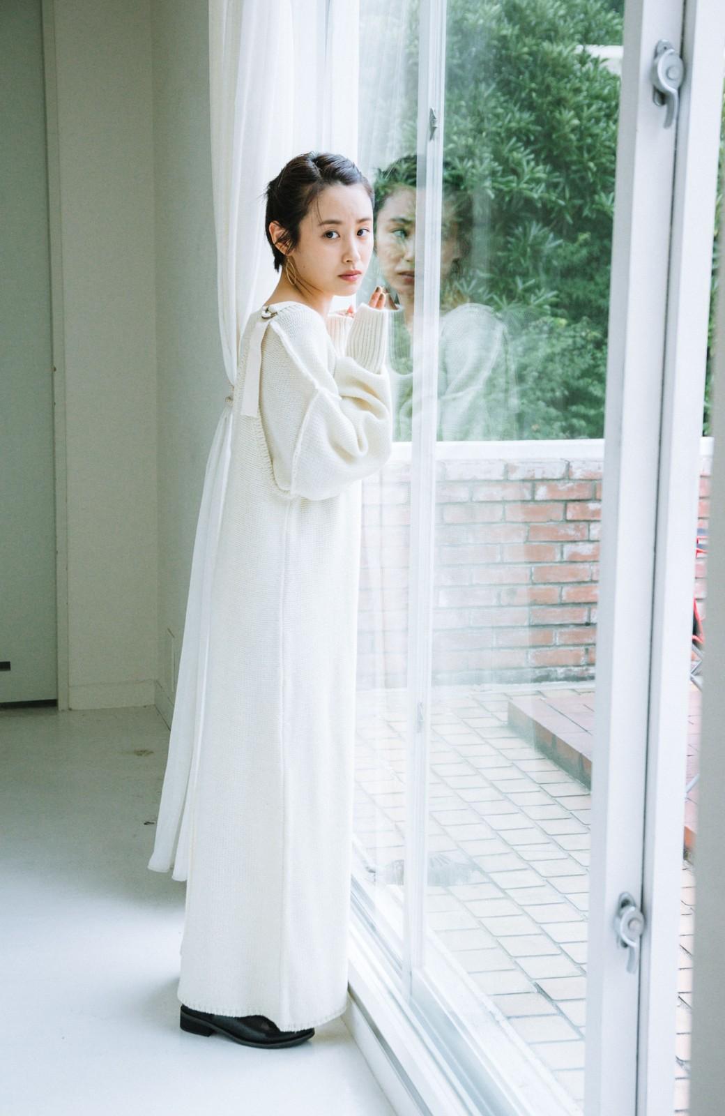 haco! 【高橋愛さんコラボ】ニットジャンパースカートとロングTシャツセット by LOVE&PEACE PROJECT <アイボリー>の商品写真17