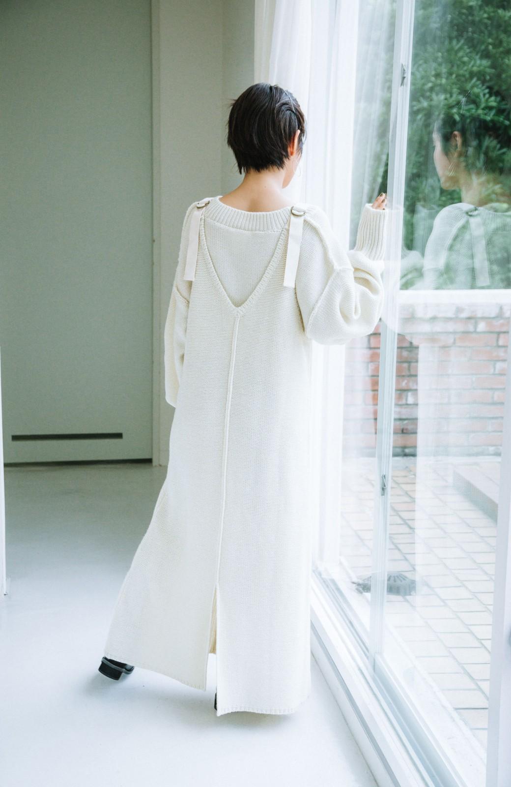 haco! 【高橋愛さんコラボ】ニットジャンパースカートとロングTシャツセット by LOVE&PEACE PROJECT <アイボリー>の商品写真18