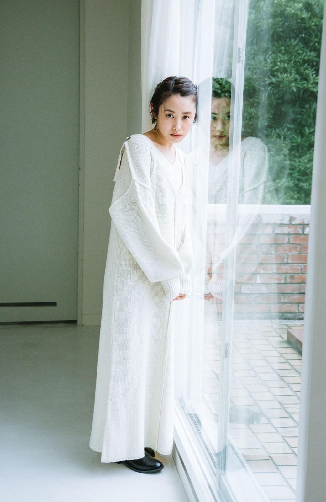 haco! 【高橋愛さんコラボ】ニットジャンパースカートとロングTシャツセット by LOVE&PEACE PROJECT <アイボリー>の商品写真19