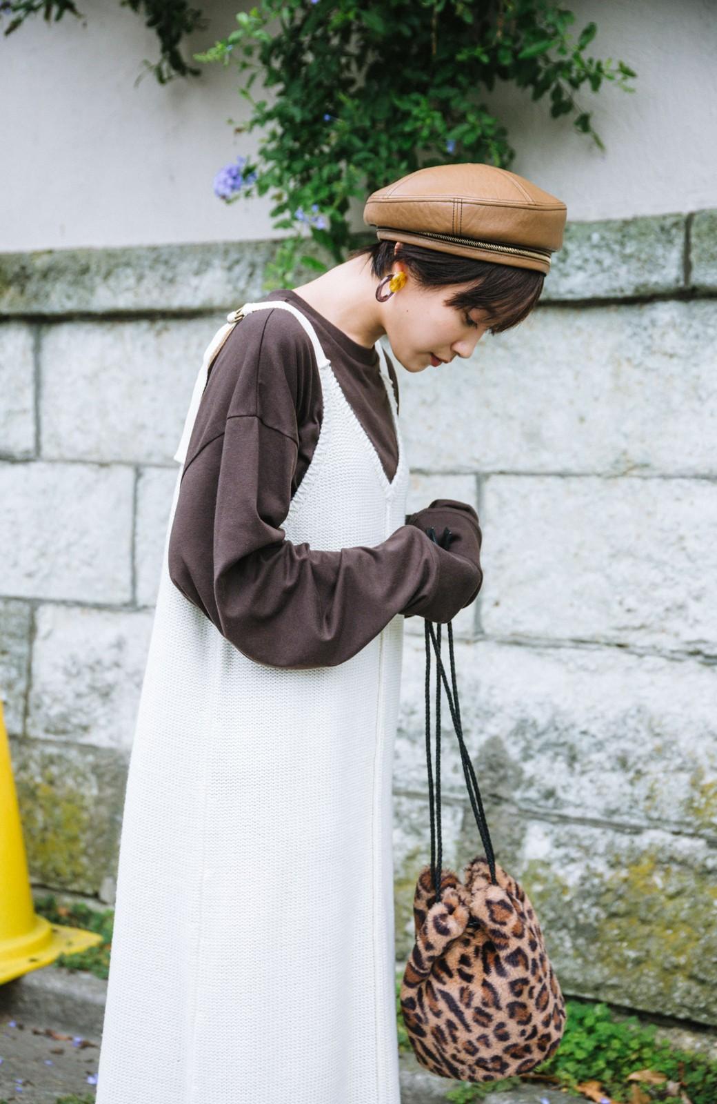 haco! 【高橋愛さんコラボ】ニットジャンパースカートとロングTシャツセット by LOVE&PEACE PROJECT <アイボリー>の商品写真8