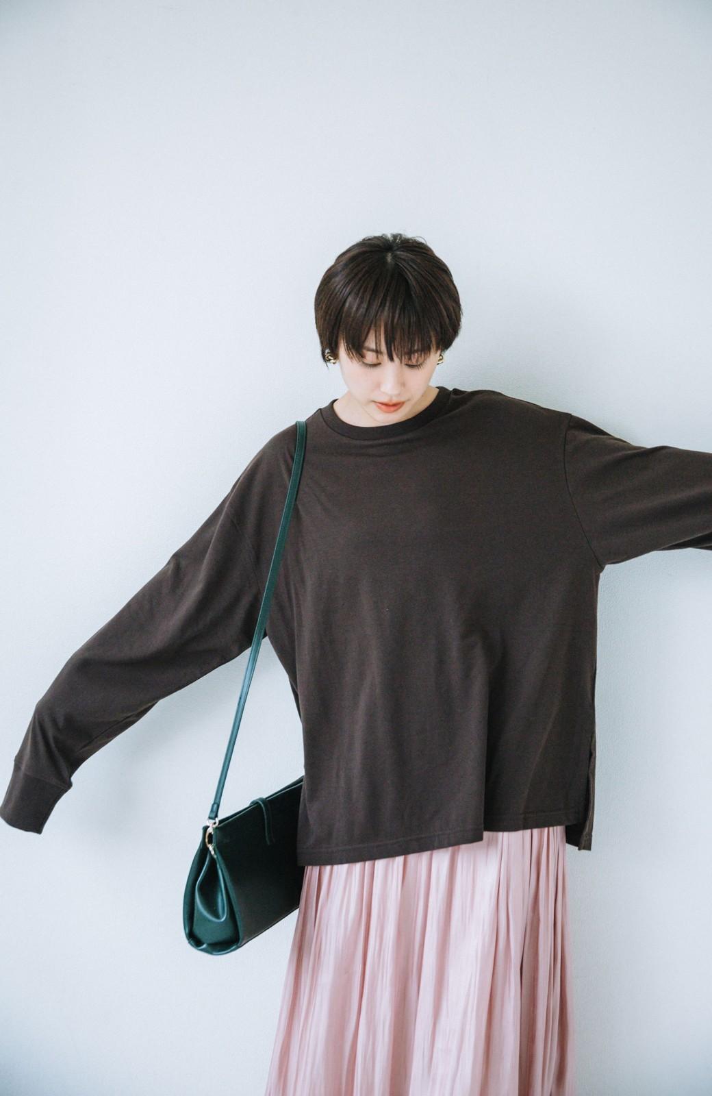 haco! 【高橋愛さんコラボ】ニットジャンパースカートとロングTシャツセット by LOVE&PEACE PROJECT <アイボリー>の商品写真12