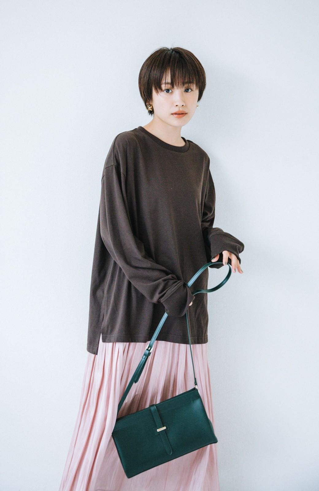 haco! 【高橋愛さんコラボ】ニットジャンパースカートとロングTシャツセット by LOVE&PEACE PROJECT <アイボリー>の商品写真11