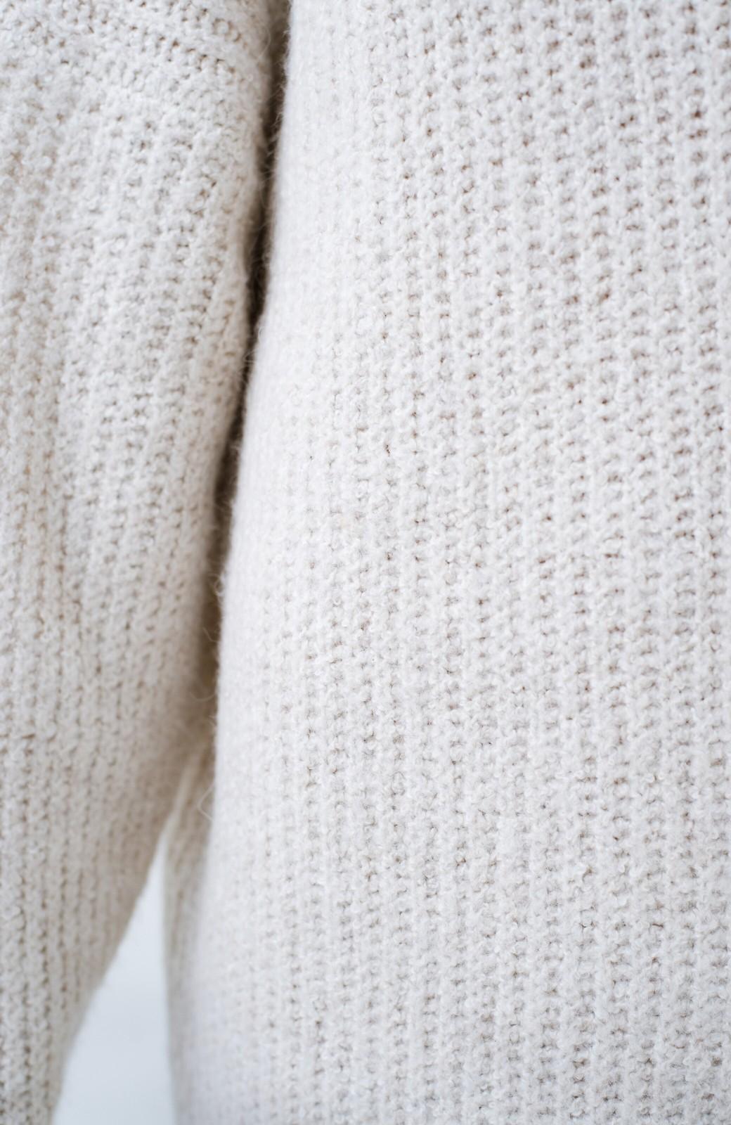 haco! 単品でも重ね着にも便利!ミックス糸がかわいいタートルニットワンピース <アイボリー>の商品写真9