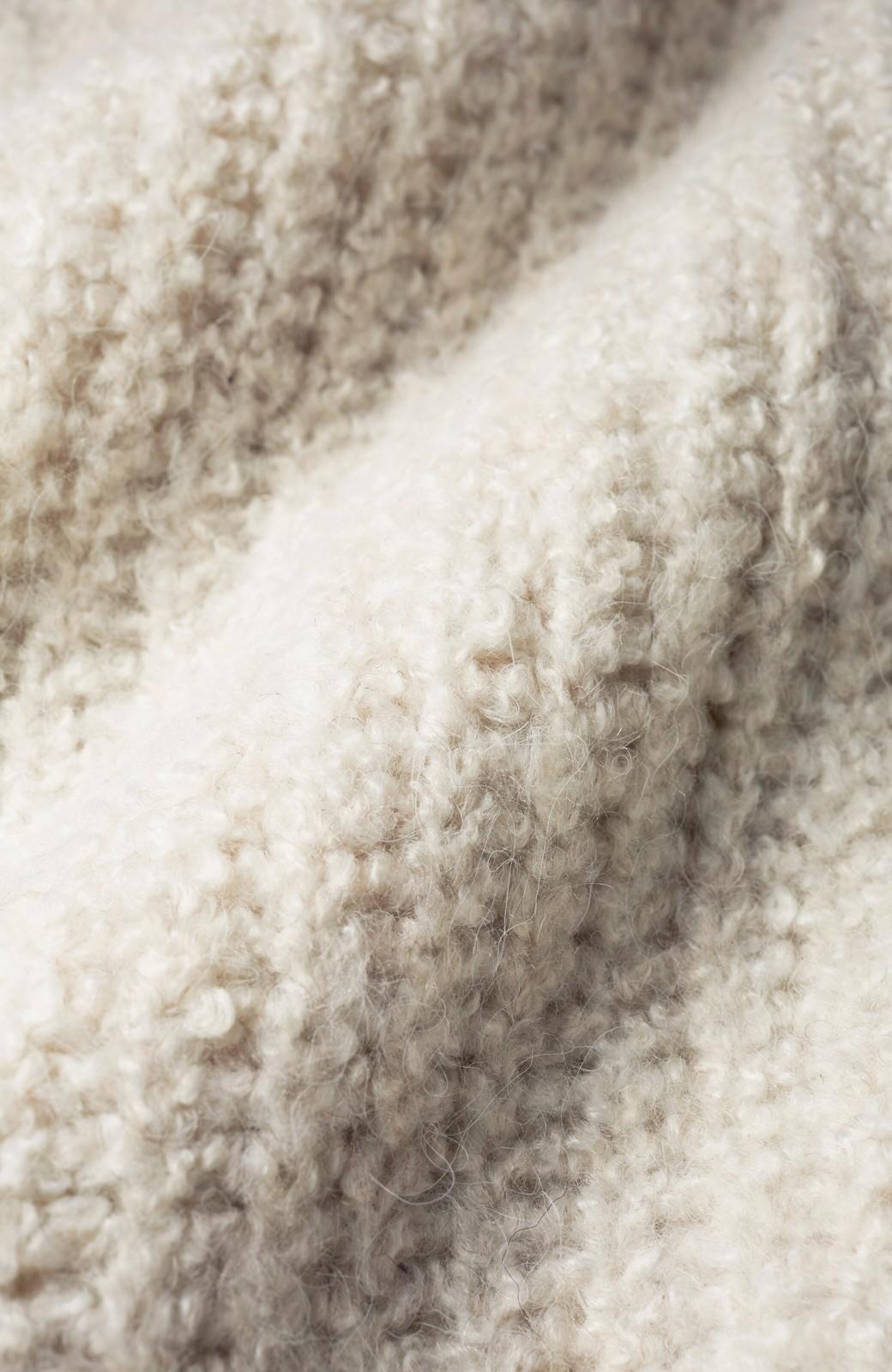 haco! 単品でも重ね着にも便利!ミックス糸がかわいいタートルニットワンピース <アイボリー>の商品写真7