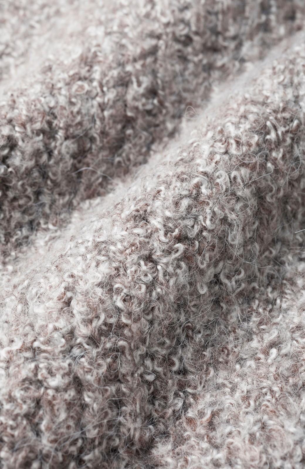 haco! 単品でも重ね着にも便利!ミックス糸がかわいいタートルニットワンピース <ブラウン系その他>の商品写真3