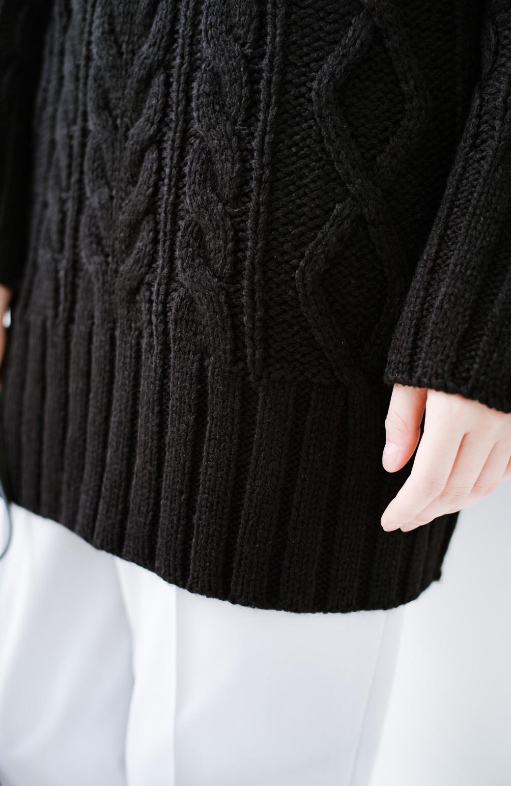 haco! ざっくり編みは女の子がかわいく見えるってよ(噂)パプコーンローゲージニット <ブラック>の商品写真5