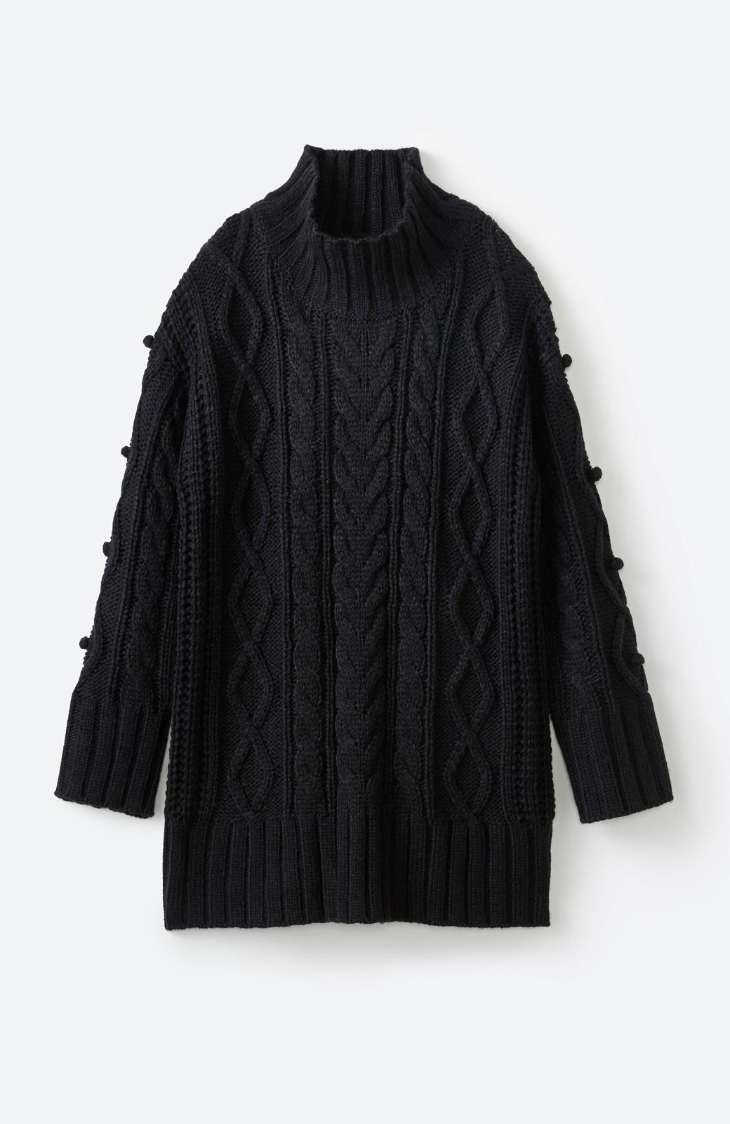 haco! ざっくり編みは女の子がかわいく見えるってよ(噂)パプコーンローゲージニット <ブラック>の商品写真14