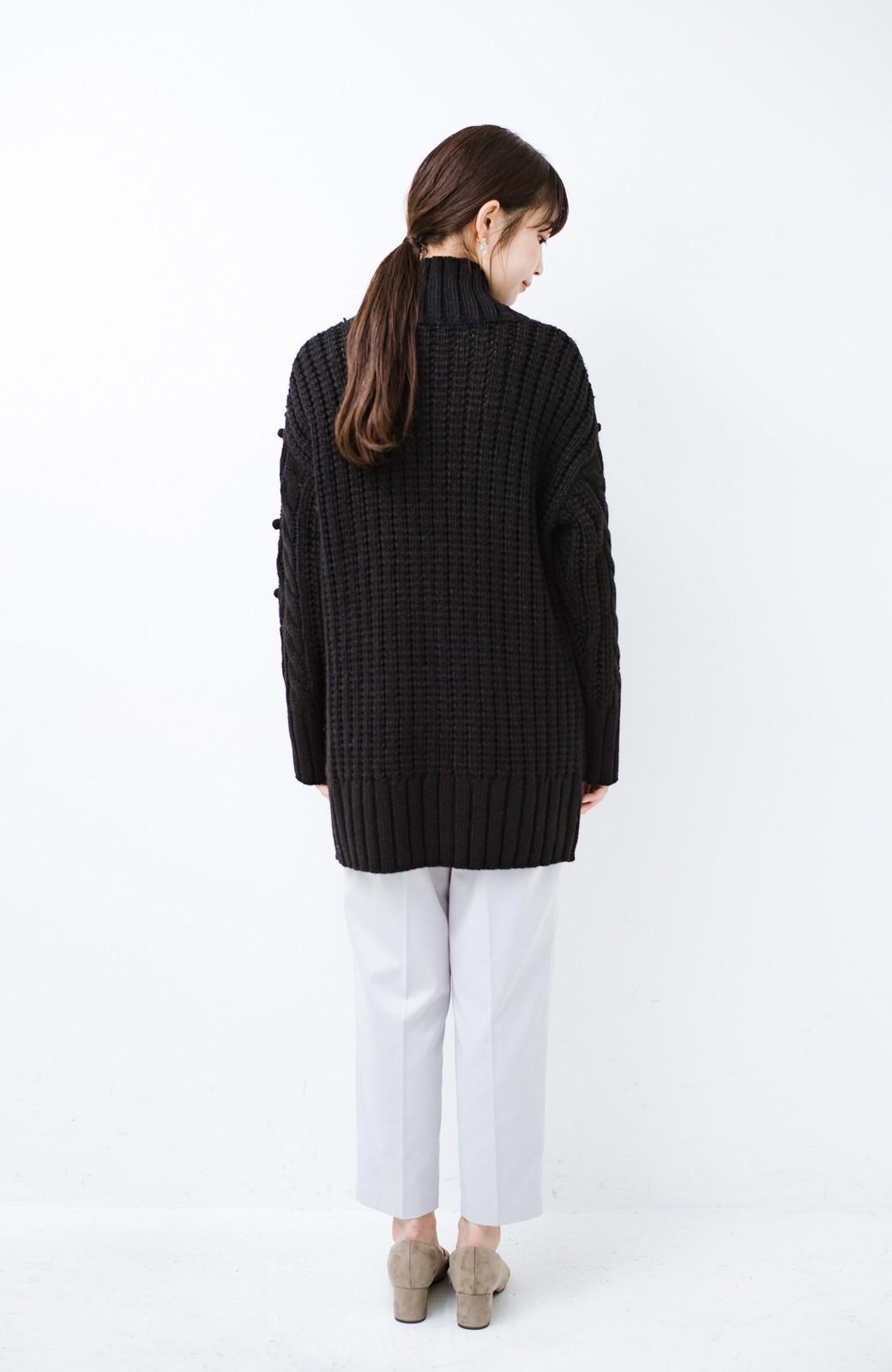 haco! ざっくり編みは女の子がかわいく見えるってよ(噂)パプコーンローゲージニット <ブラック>の商品写真9