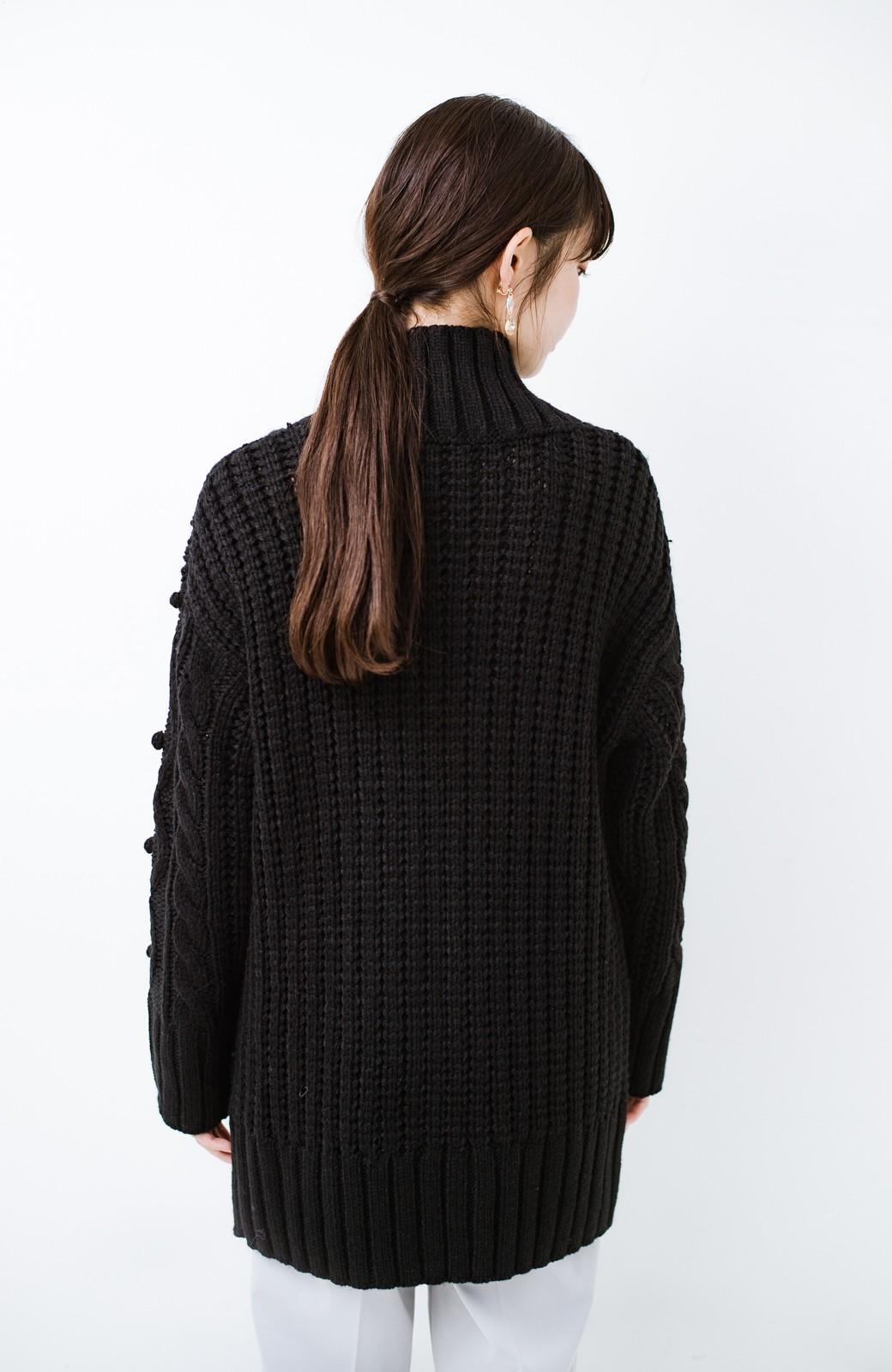 haco! ざっくり編みは女の子がかわいく見えるってよ(噂)パプコーンローゲージニット <ブラック>の商品写真13