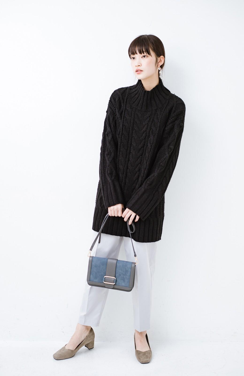 haco! ざっくり編みは女の子がかわいく見えるってよ(噂)パプコーンローゲージニット <ブラック>の商品写真7