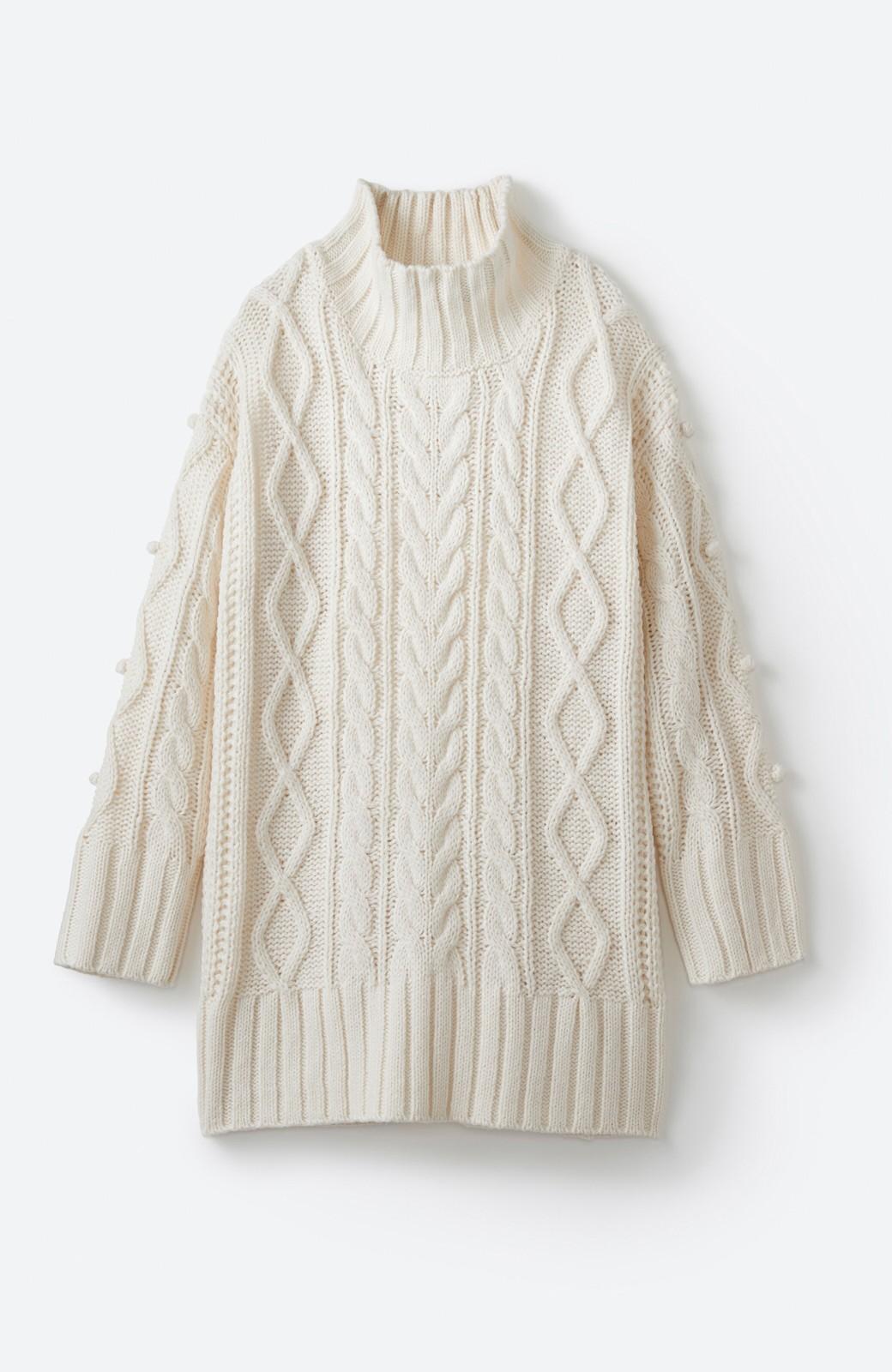 haco! ざっくり編みは女の子がかわいく見えるってよ(噂)パプコーンローゲージニット <アイボリー>の商品写真17