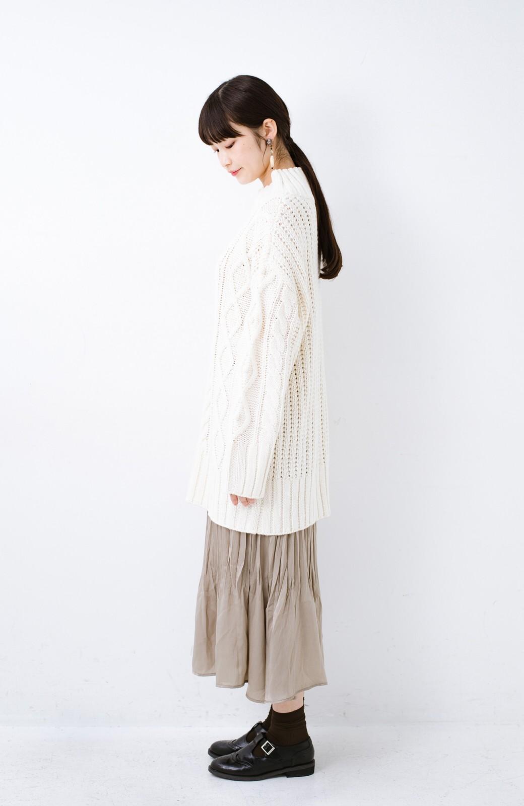 haco! ざっくり編みは女の子がかわいく見えるってよ(噂)パプコーンローゲージニット <アイボリー>の商品写真9