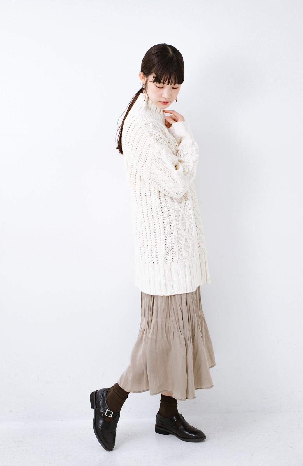 haco! ざっくり編みは女の子がかわいく見えるってよ(噂)パプコーンローゲージニット <アイボリー>の商品写真10