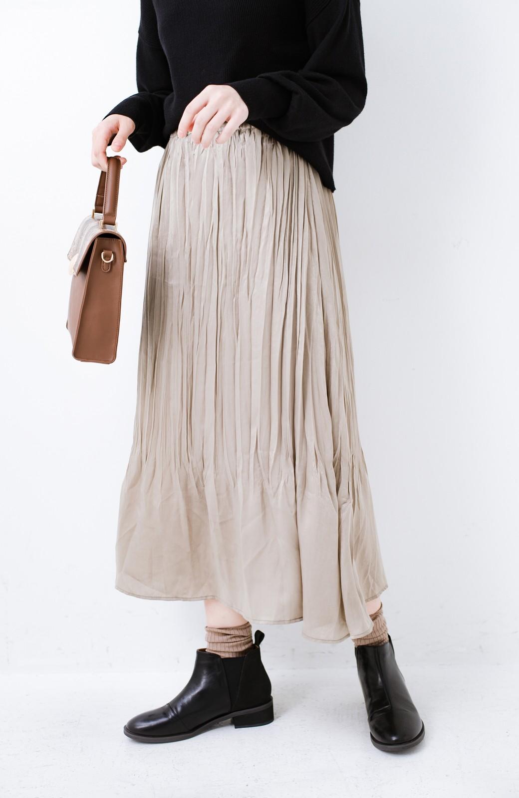 haco!  1枚でかわいいのはもちろん ワンピースとの重ね着にも便利なプリーツスカート <ライトグレー>の商品写真1