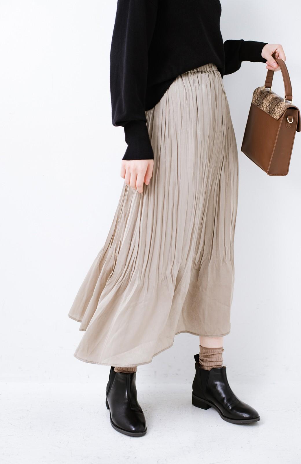 haco!  1枚でかわいいのはもちろん ワンピースとの重ね着にも便利なプリーツスカート <ライトグレー>の商品写真7