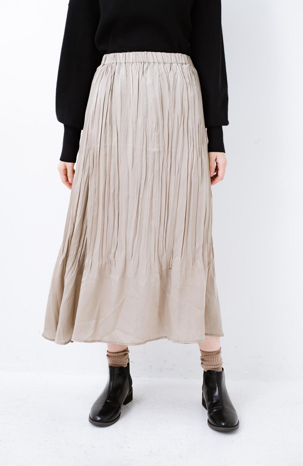 haco!  1枚でかわいいのはもちろん ワンピースとの重ね着にも便利なプリーツスカート <ライトグレー>の商品写真8