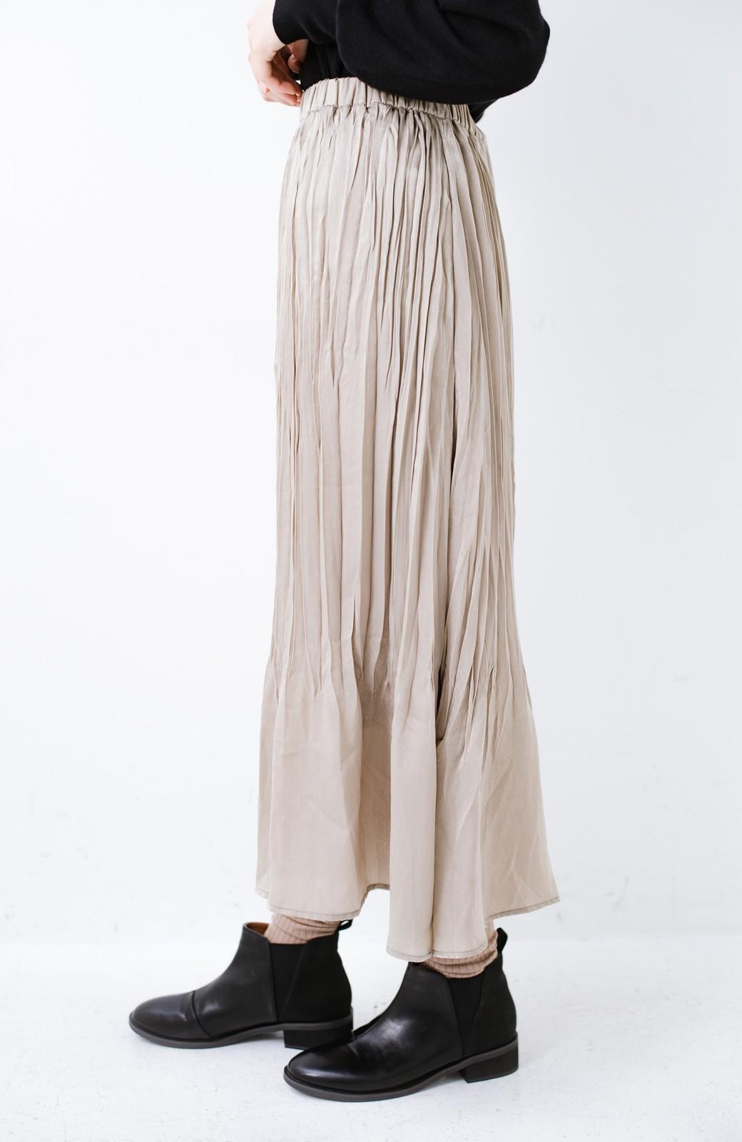 haco!  1枚でかわいいのはもちろん ワンピースとの重ね着にも便利なプリーツスカート <ライトグレー>の商品写真9