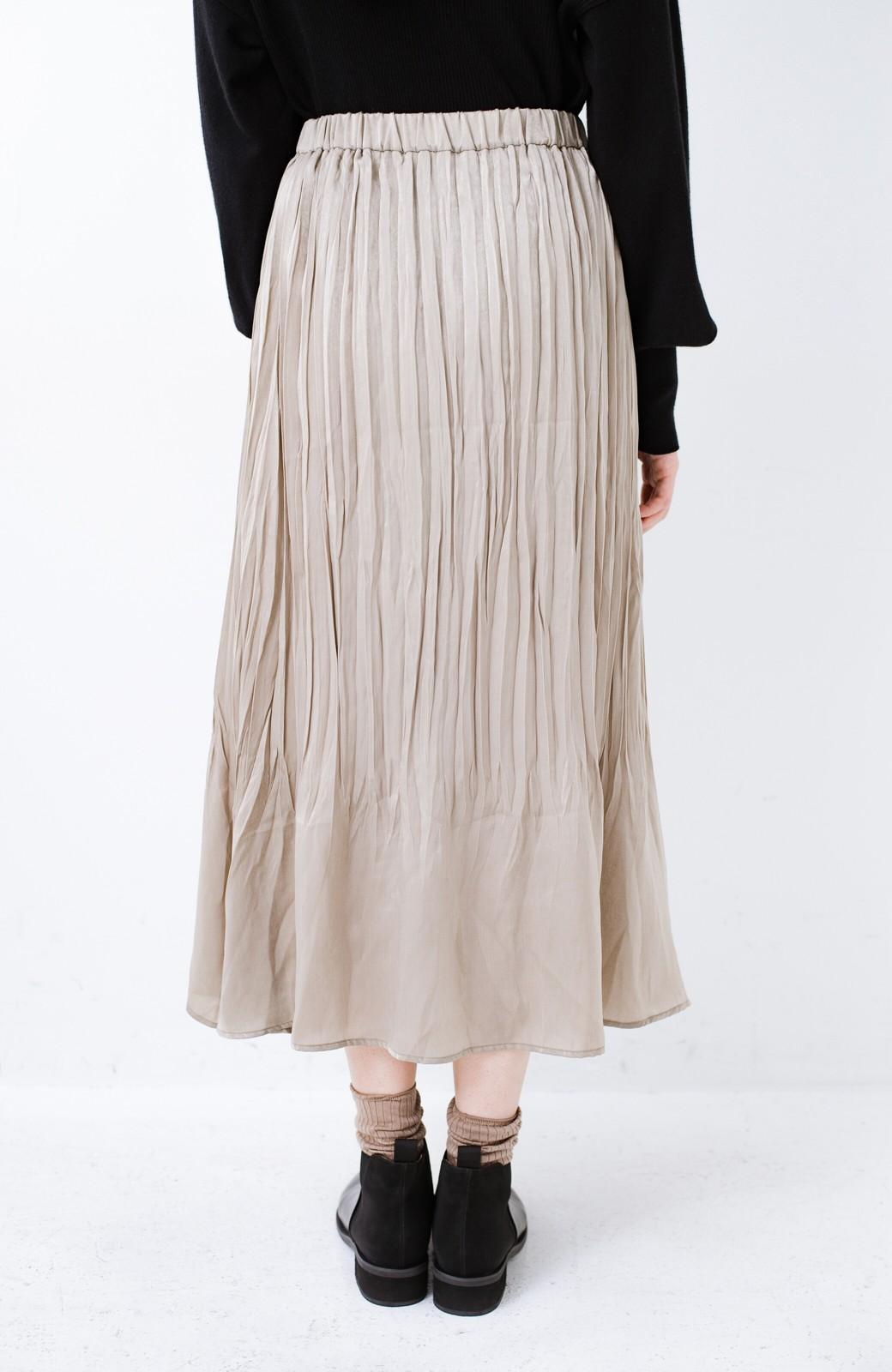 haco!  1枚でかわいいのはもちろん ワンピースとの重ね着にも便利なプリーツスカート <ライトグレー>の商品写真10