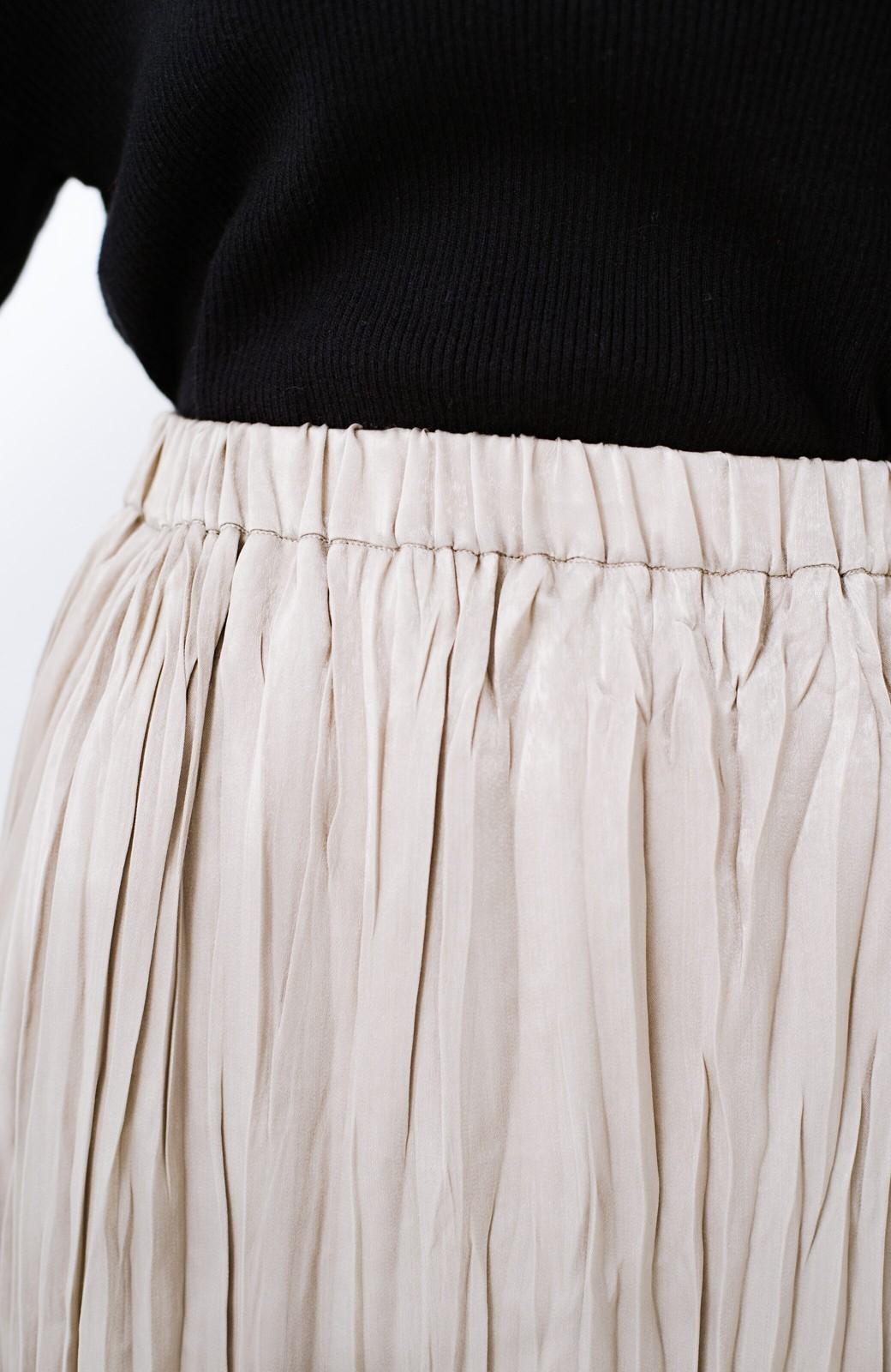 haco!  1枚でかわいいのはもちろん ワンピースとの重ね着にも便利なプリーツスカート <ライトグレー>の商品写真11