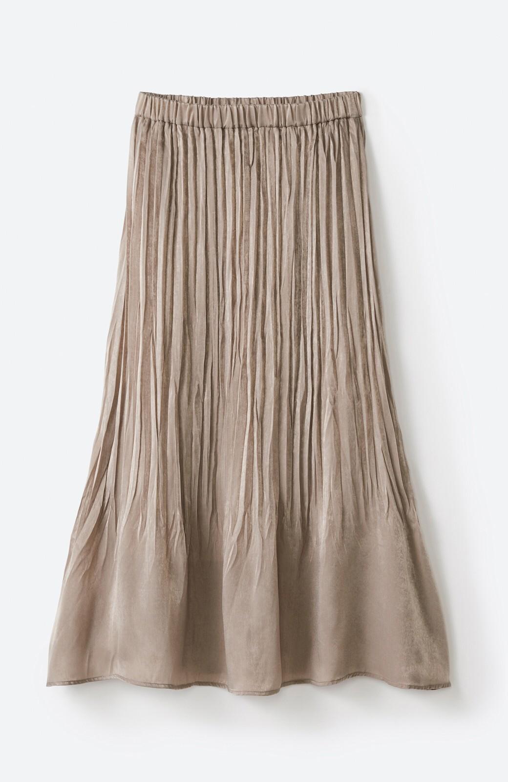 haco!  1枚でかわいいのはもちろん ワンピースとの重ね着にも便利なプリーツスカート <ライトグレー>の商品写真17