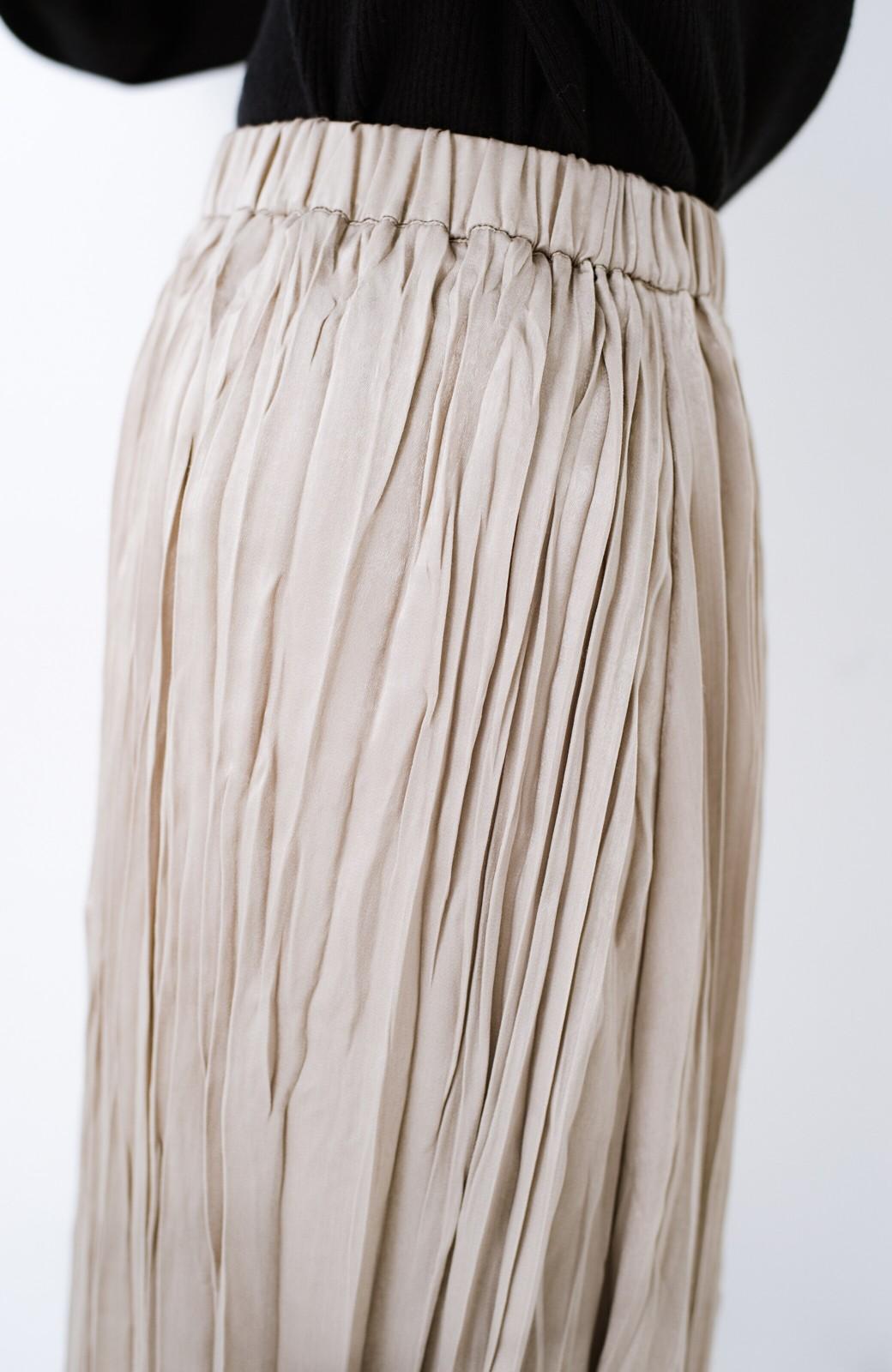 haco!  1枚でかわいいのはもちろん ワンピースとの重ね着にも便利なプリーツスカート <ライトグレー>の商品写真5