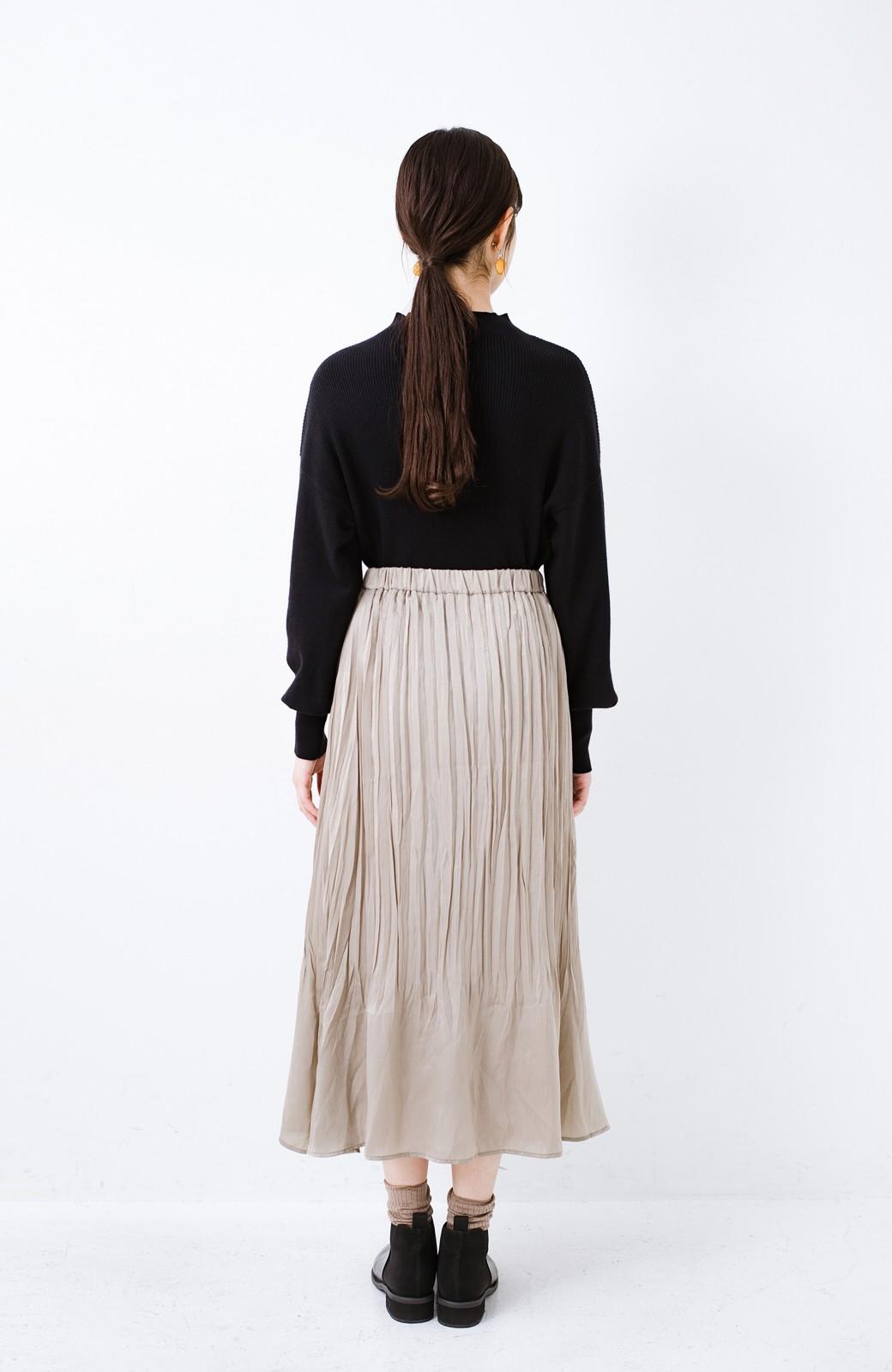 haco!  1枚でかわいいのはもちろん ワンピースとの重ね着にも便利なプリーツスカート <ライトグレー>の商品写真16
