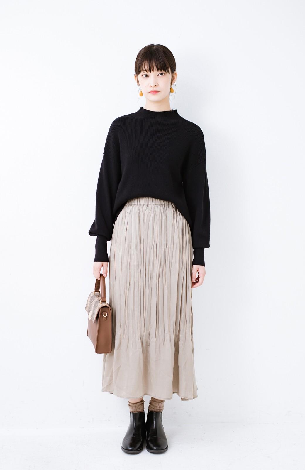 haco!  1枚でかわいいのはもちろん ワンピースとの重ね着にも便利なプリーツスカート <ライトグレー>の商品写真12