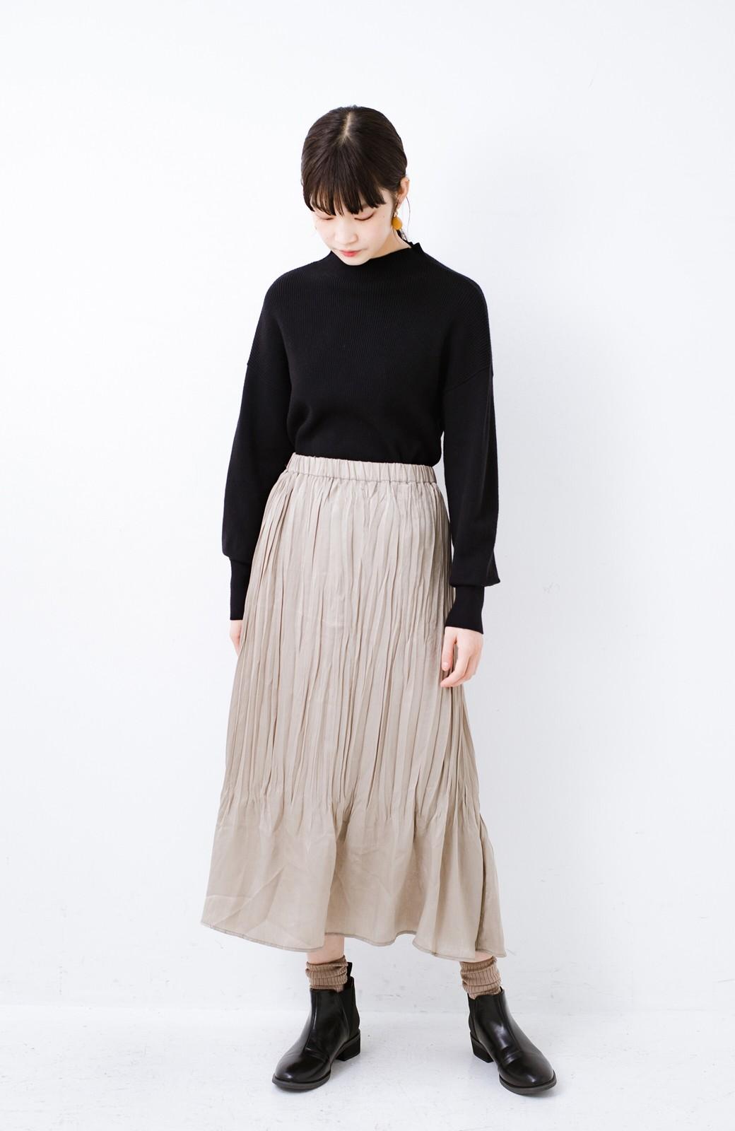 haco!  1枚でかわいいのはもちろん ワンピースとの重ね着にも便利なプリーツスカート <ライトグレー>の商品写真13