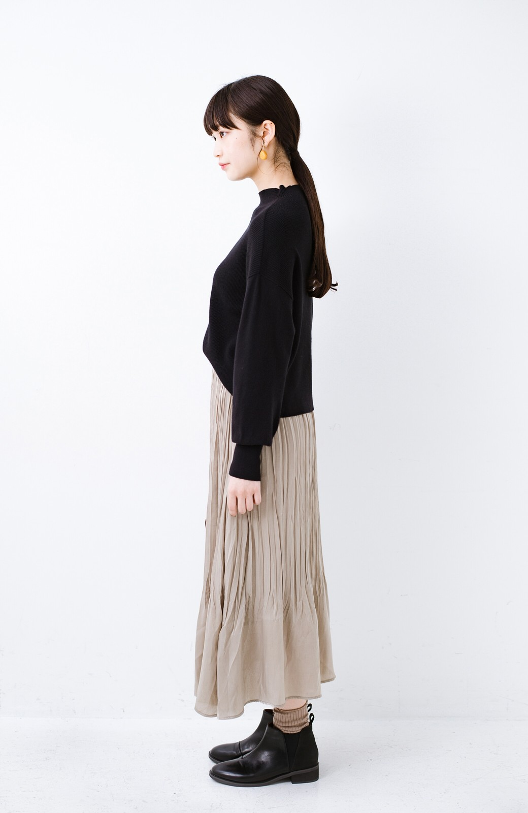 haco!  1枚でかわいいのはもちろん ワンピースとの重ね着にも便利なプリーツスカート <ライトグレー>の商品写真15