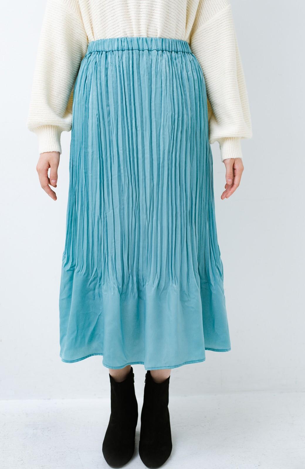haco!  1枚でかわいいのはもちろん ワンピースとの重ね着にも便利なプリーツスカート <ミント>の商品写真2