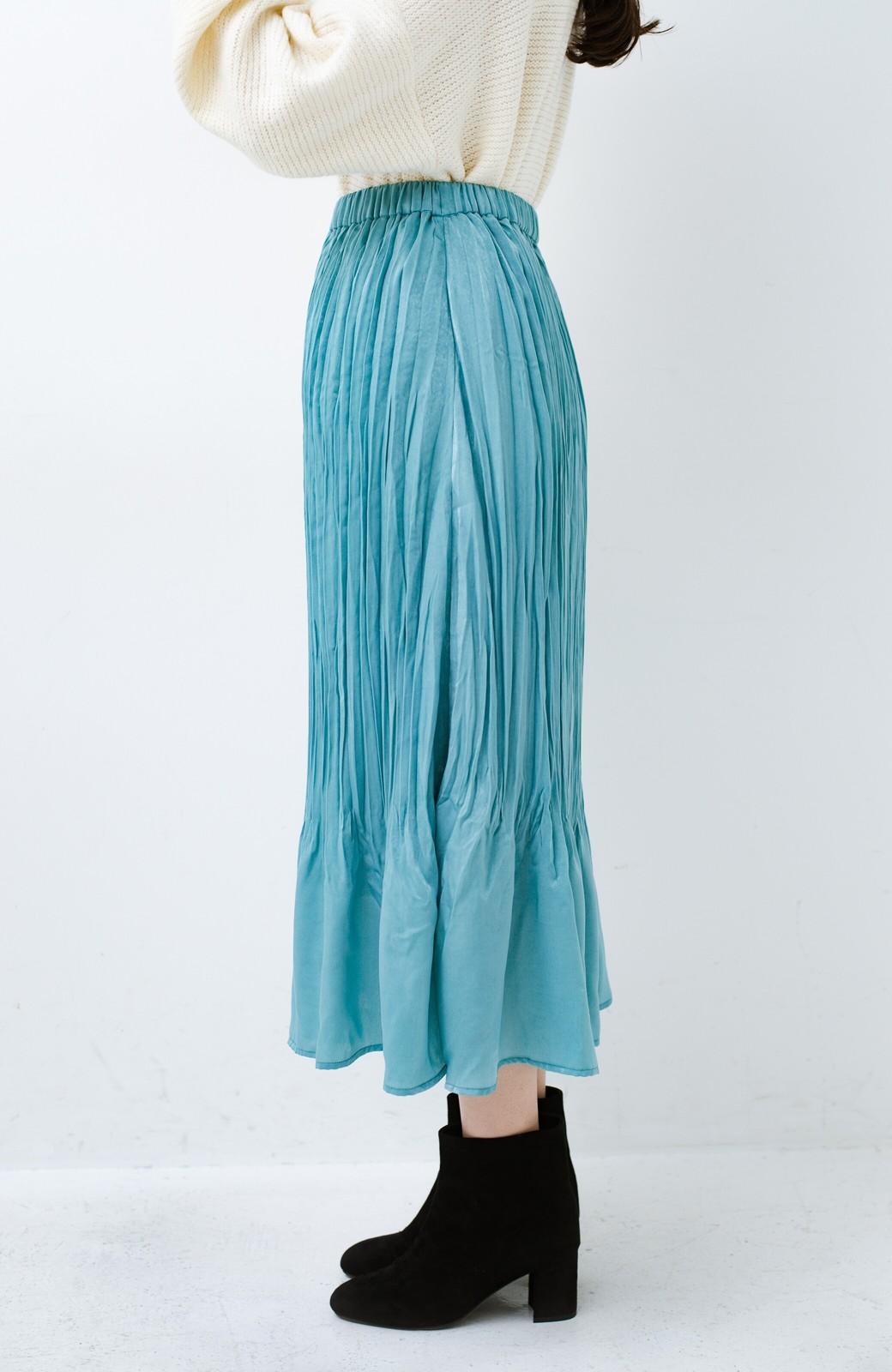 haco!  1枚でかわいいのはもちろん ワンピースとの重ね着にも便利なプリーツスカート <ミント>の商品写真7