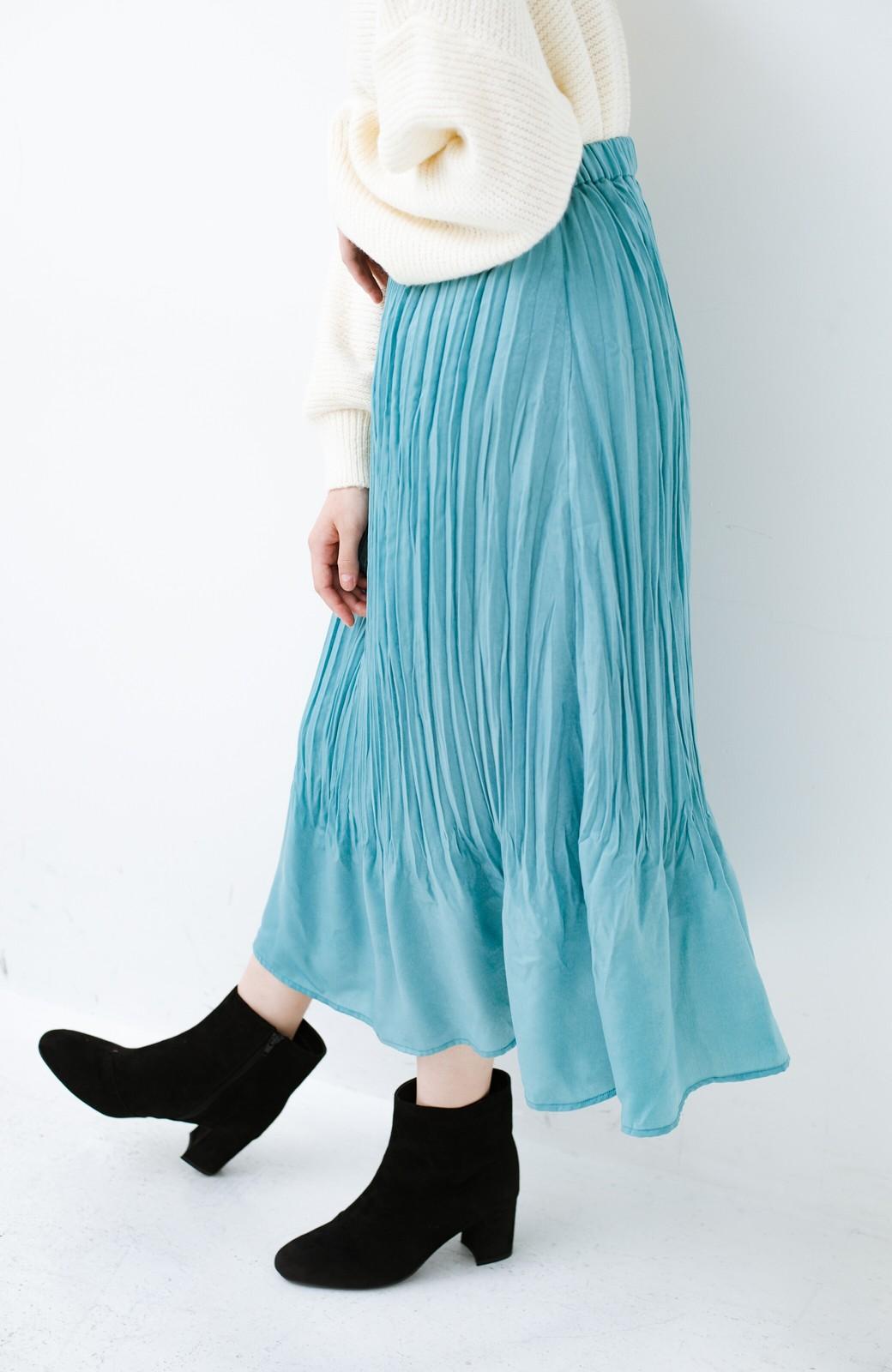 haco!  1枚でかわいいのはもちろん ワンピースとの重ね着にも便利なプリーツスカート <ミント>の商品写真8