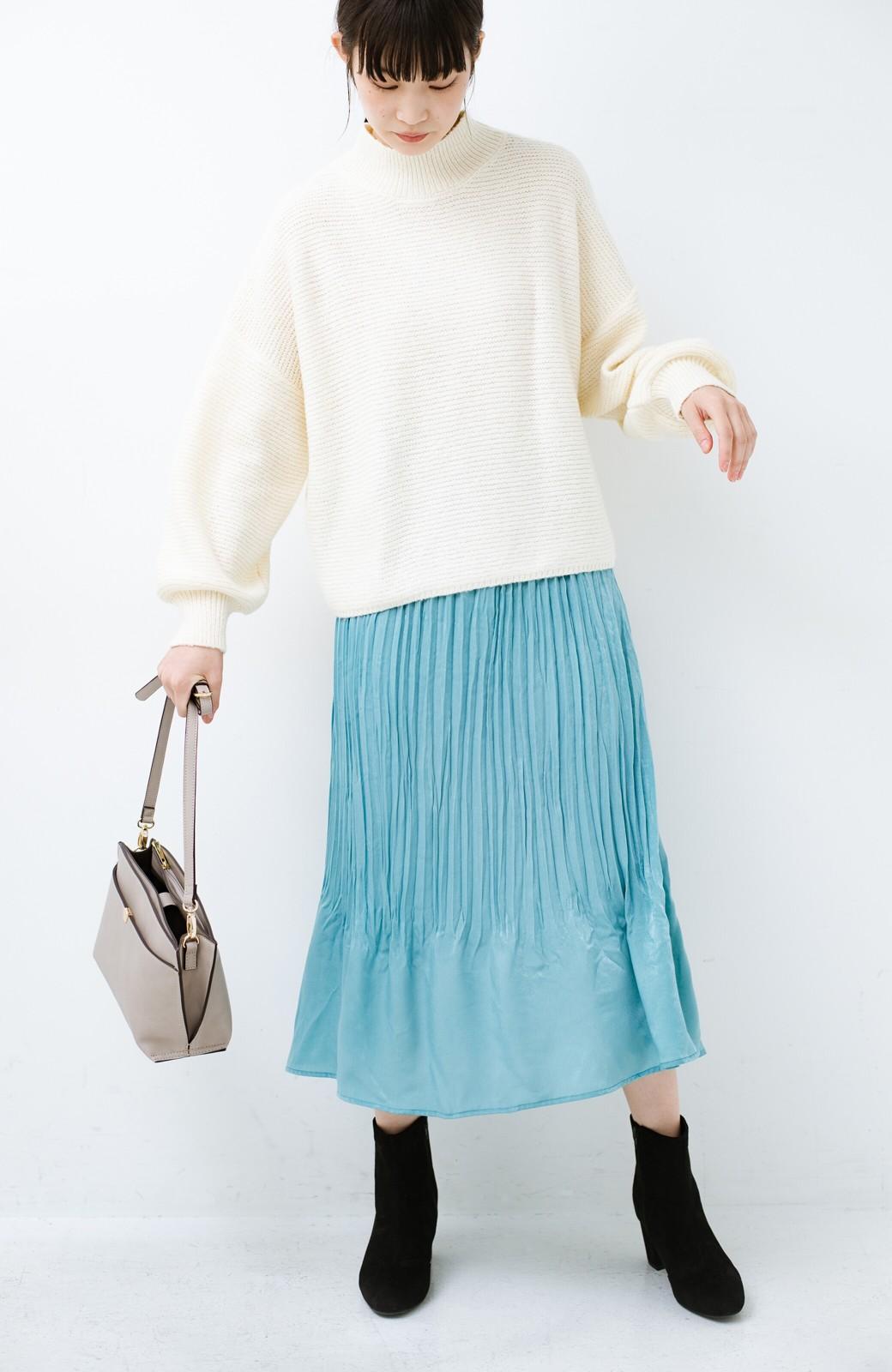 haco!  1枚でかわいいのはもちろん ワンピースとの重ね着にも便利なプリーツスカート <ミント>の商品写真14