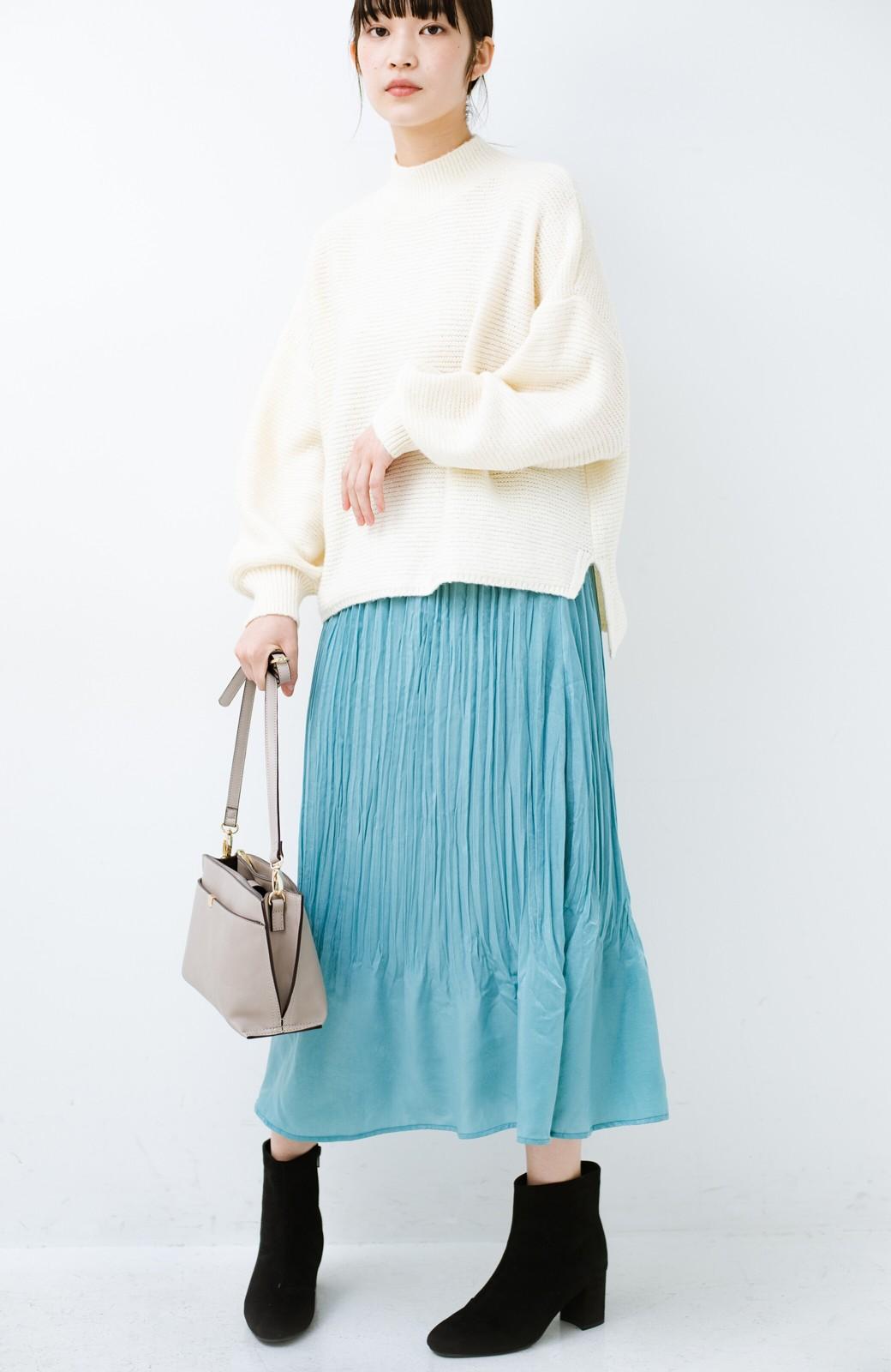 haco!  1枚でかわいいのはもちろん ワンピースとの重ね着にも便利なプリーツスカート <ミント>の商品写真15