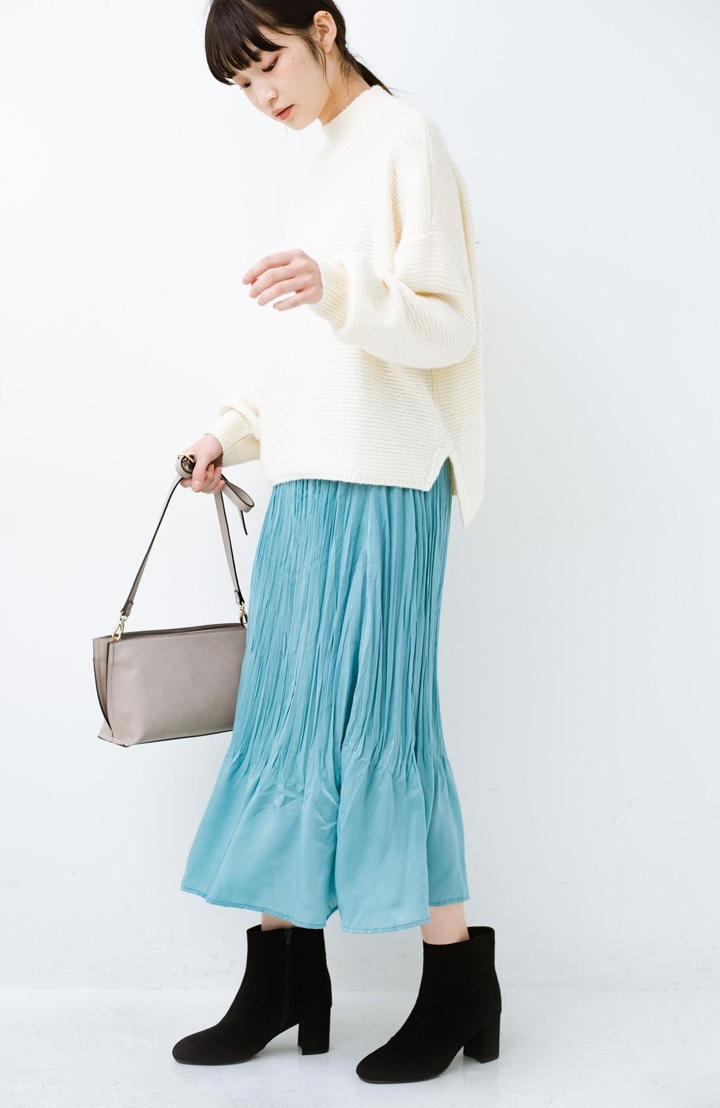 haco!  1枚でかわいいのはもちろん ワンピースとの重ね着にも便利なプリーツスカート <ミント>の商品写真1