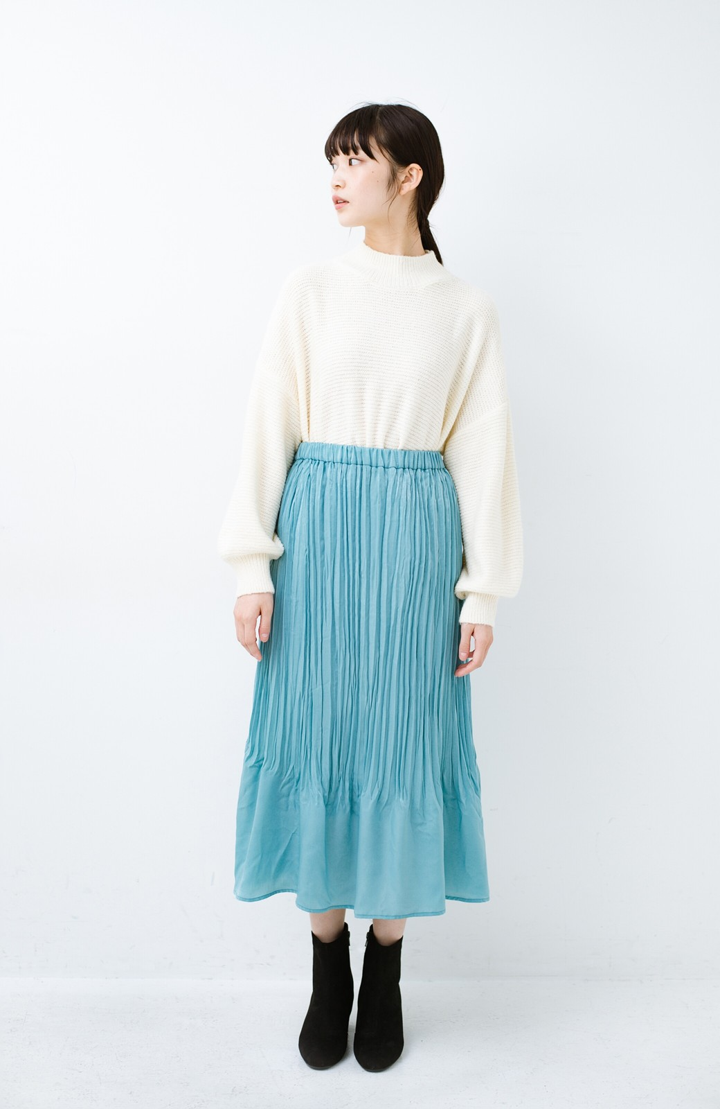 haco!  1枚でかわいいのはもちろん ワンピースとの重ね着にも便利なプリーツスカート <ミント>の商品写真10