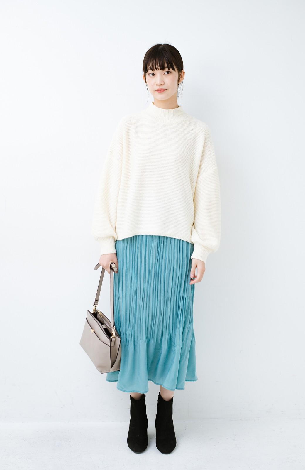 haco!  1枚でかわいいのはもちろん ワンピースとの重ね着にも便利なプリーツスカート <ミント>の商品写真11