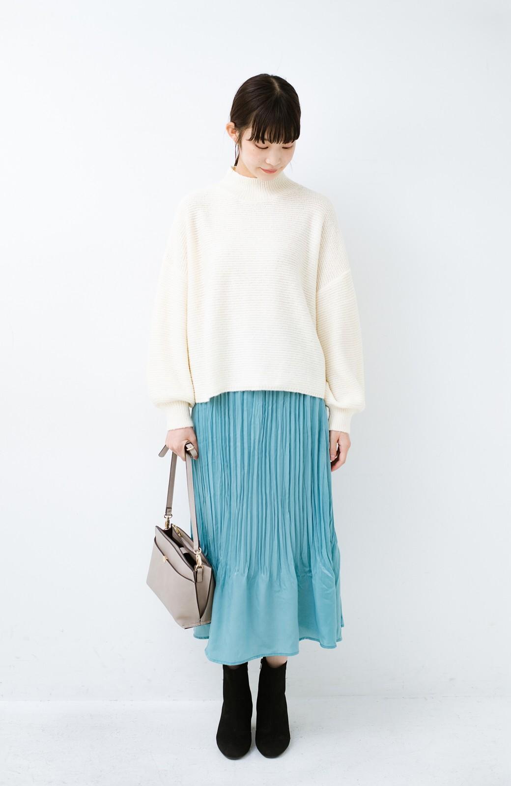 haco!  1枚でかわいいのはもちろん ワンピースとの重ね着にも便利なプリーツスカート <ミント>の商品写真12
