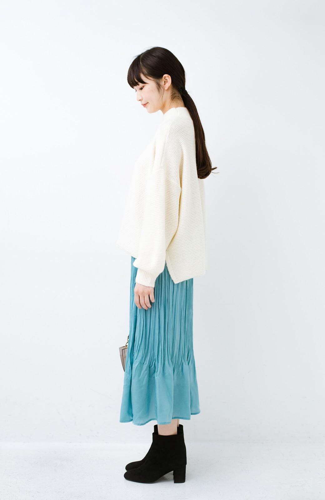 haco!  1枚でかわいいのはもちろん ワンピースとの重ね着にも便利なプリーツスカート <ミント>の商品写真13