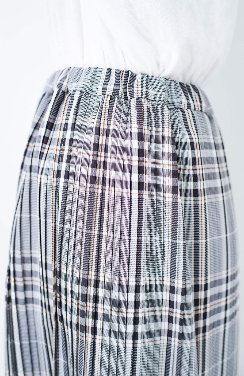 haco! 着こなし無限!自由自在なスリットロングニットとチェックプリーツスカートとチュール巻きスカートの3点セット <ブラック>の商品写真37