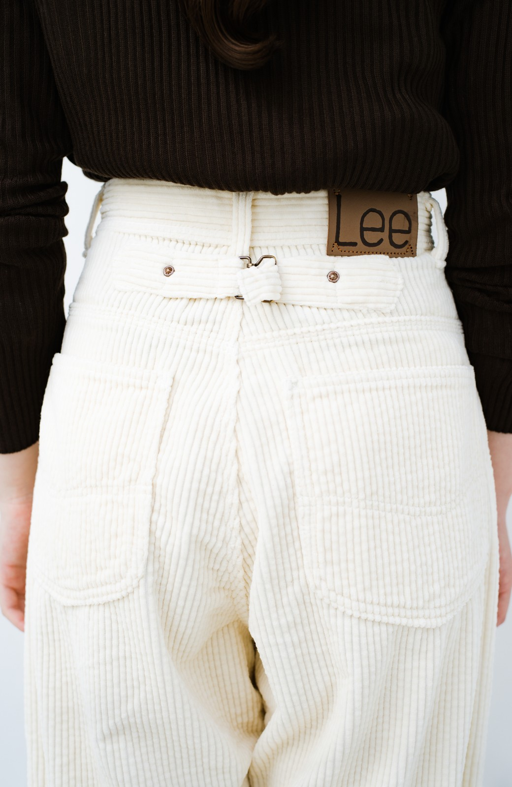 haco! LadyLee ちょっぴりハイウエストのコーデュロイカウガールパンツ <アイボリー>の商品写真16