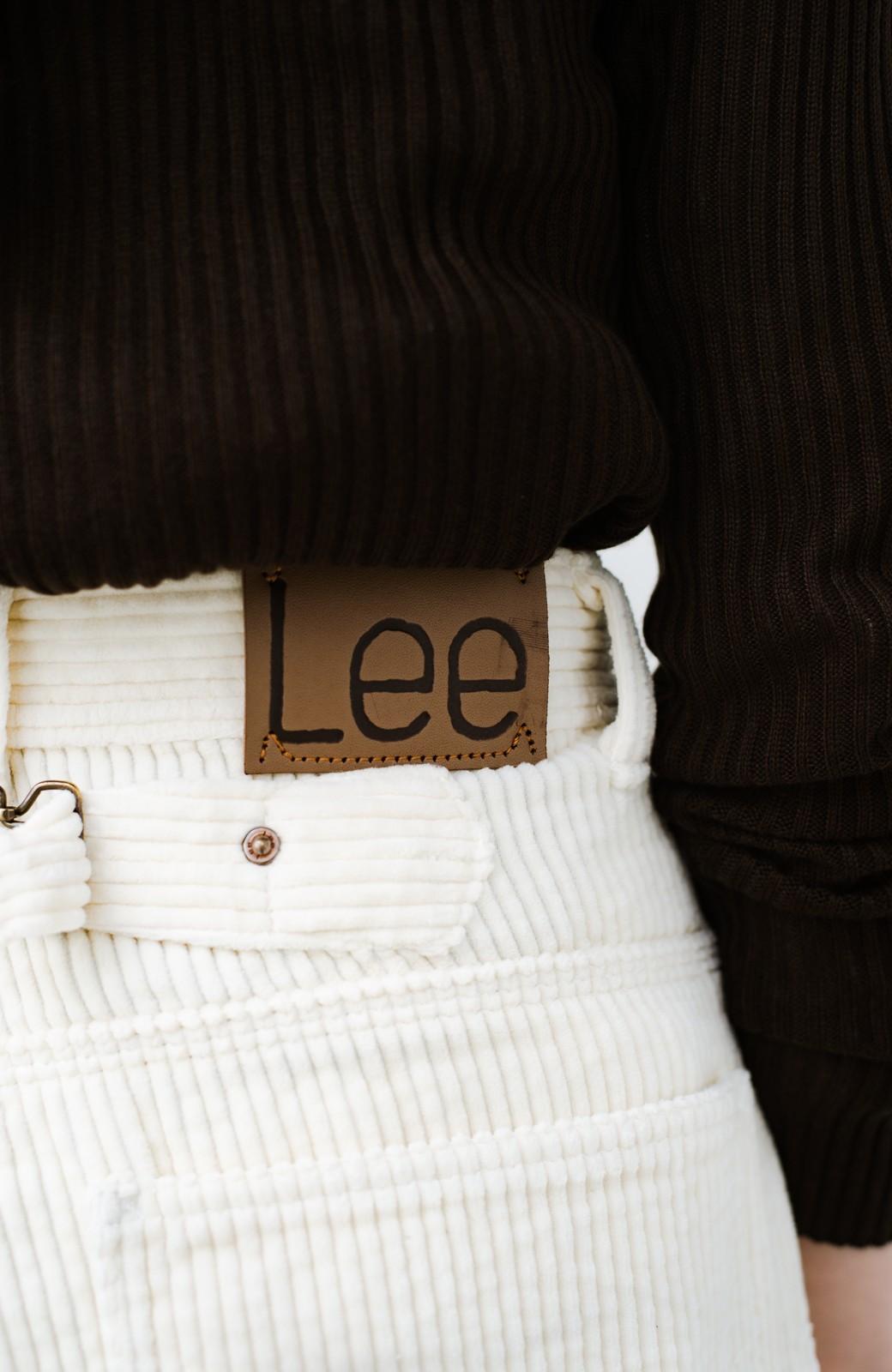 haco! LadyLee ちょっぴりハイウエストのコーデュロイカウガールパンツ <アイボリー>の商品写真9